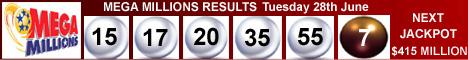 Mega Millions Lottery Results