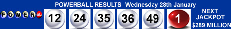 Powerball Winning Numbers