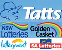 Tatts NSW Lotteries Golden Casket Lotterywest SA Lotteries